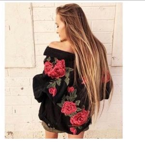 Carmar LF embroidered floral jean jacket